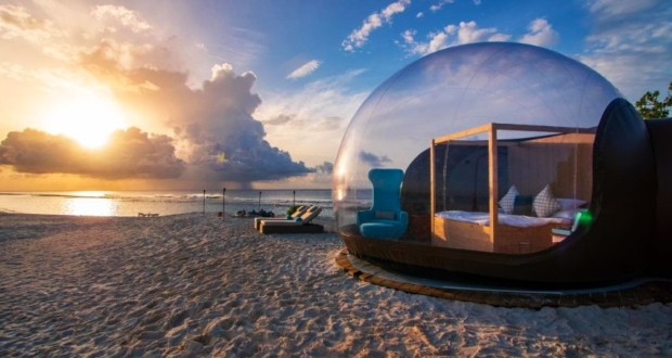 Finolhu Beach Bubble Tent for Spending a Magical Night