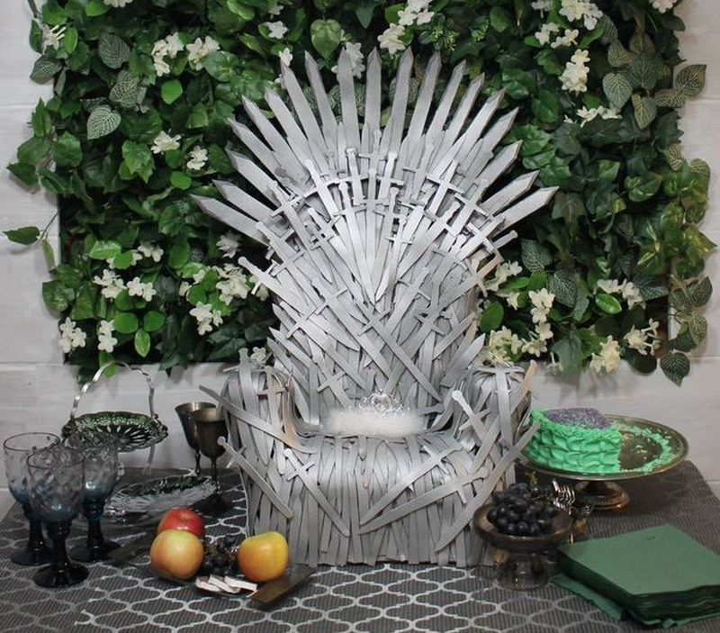 iron throne chair heated seat covers office your baby will love and rule this diy easy make a sized using craft foam