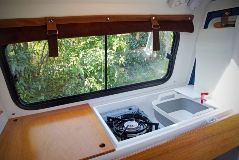 Carapate Teardrop Trailer has PullOut Kitchen Can Be