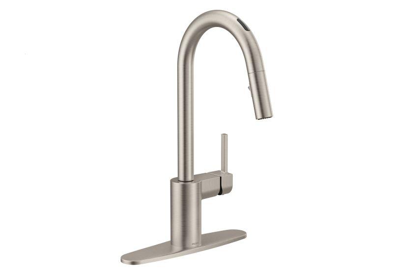 u by moen smart faucet dispenses water