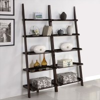 Leaning Bookshelf  Elegant Ladder Bookcases