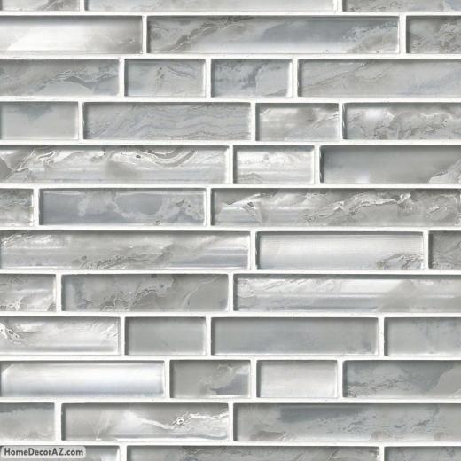 MSI Stone Silver Canvas Interlocking Mosaic Backsplash