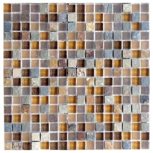 Eleganza Mesa Square Mosaic Tile GL3162  Home Decor AZ