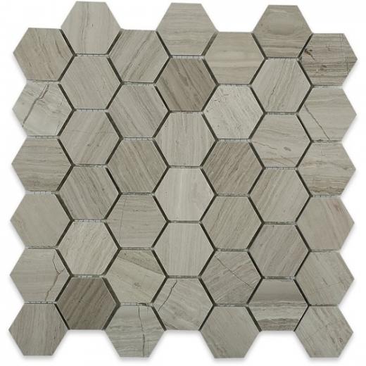 wooden beige 2 wood look hexagon tile by soho studio hex2inwdb