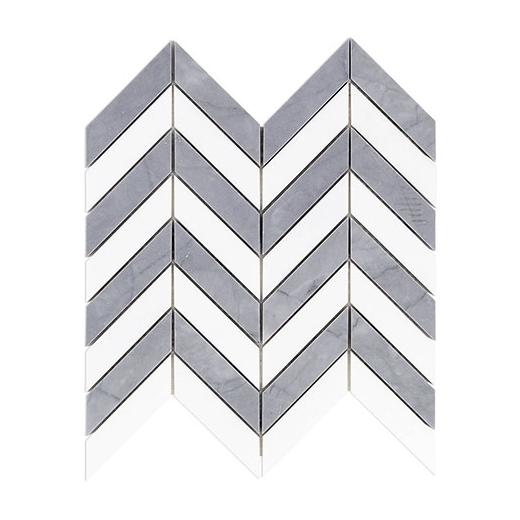 soho falcon burlington gray white thassos chevron tile flcnburlgryths