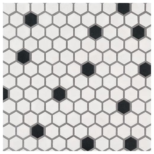 msi black and white 1 hexagon tile