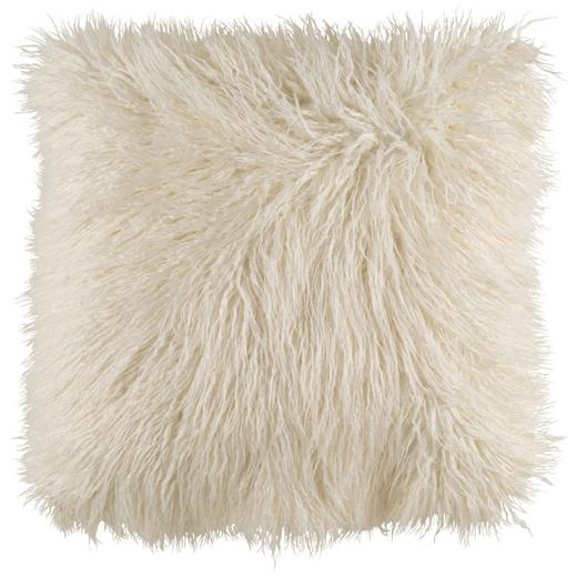 surya khr005 kharaa white faux fur shag throw pillow