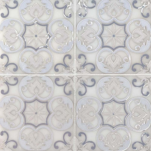 msi tetris blanco 6x6 floral tile