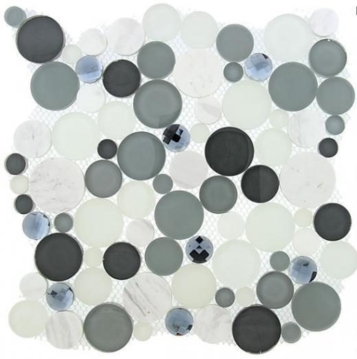 Buy Glass Tile Symphony Bubble Grey Fizz SBS1512