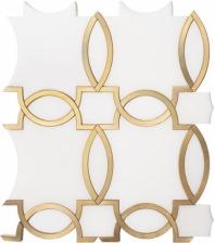 flemish gold blg458 geometric arabesque mosaic tile