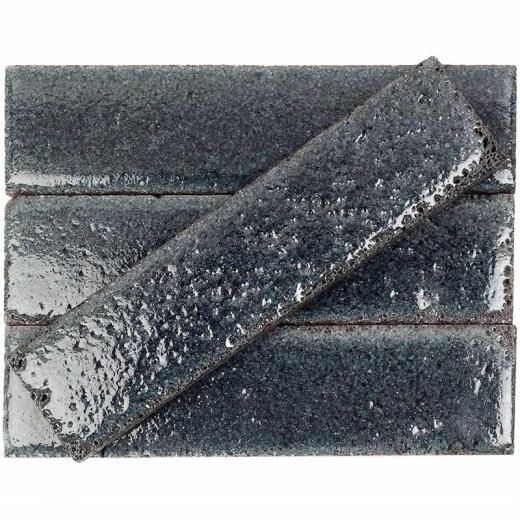bahari brick black 3x12 subway lava stone tile