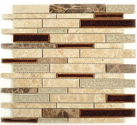 Buy Glass Tile Tranquil Random Brick El Dorado TS 943