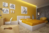 Yellow Bedroom Designs, Ideas, Decor Photos