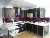 """Purple and Grey Kitchen Decor Defines """"Royalty"""" 