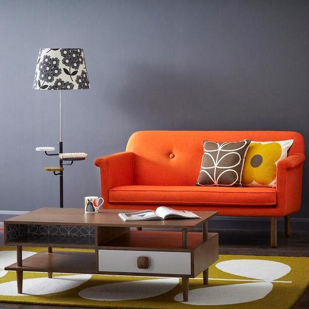sofa bed color orange ikea klippan cover grey furniture ideas, sofa's
