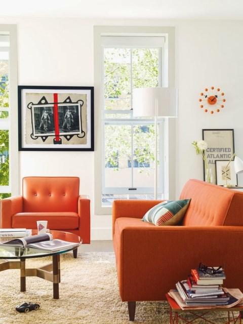 Orange Sofa's