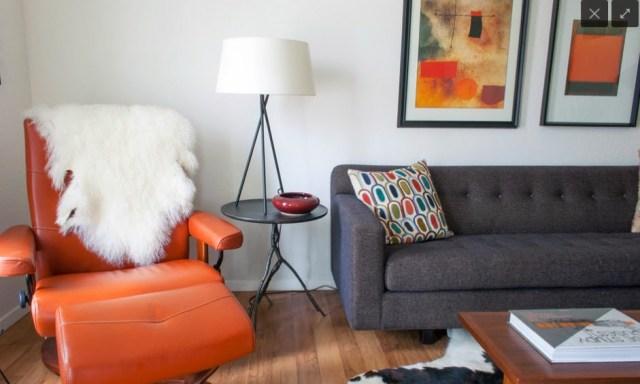 Orange Leather Sofa Recliner
