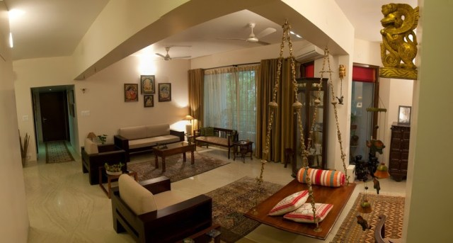 Traditional indian homes home decor designs for Apartment interior design mysore