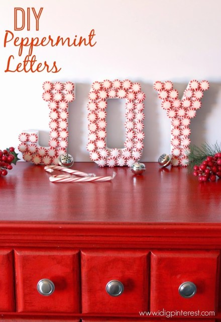 Decorating with Peppermint Candy Letters