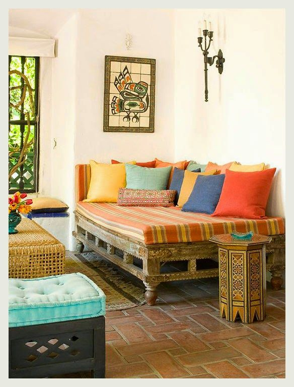Indian Traditional Interior Design Ideas For Living Rooms: Colorful Indian Homes