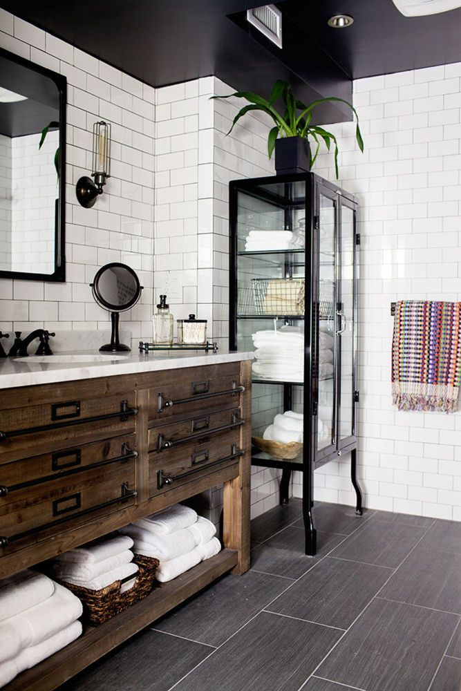 30 Stunning Industrial Bathroom Design