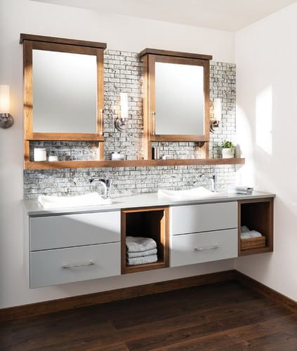 some great ideas for floating bathroom vanity plans - home decor help