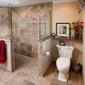 Tiled walk in showers one of the most popular materials for walk