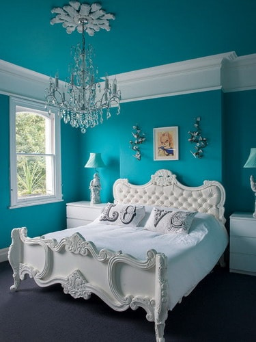 blue and white vintage bedroom Blue and White Bedroom Wall Color Schemes Ideas - Home Decor Help