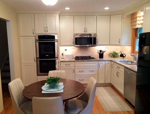 White L Shaped Kitchen Island