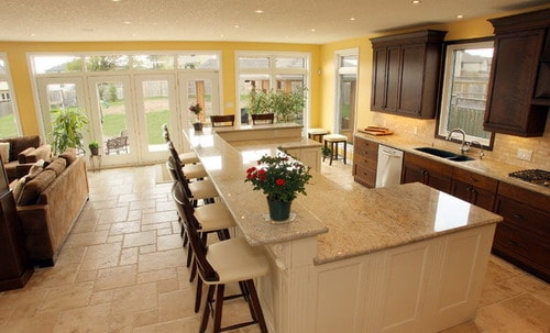U Shaped Kitchen Plans Island
