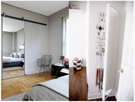 Glass sliding door for bedroom