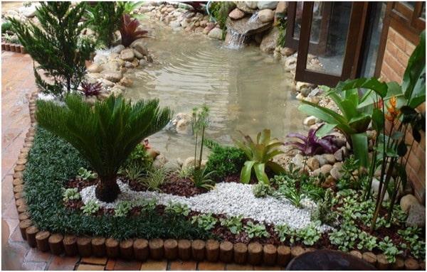 Artificial lake for garden