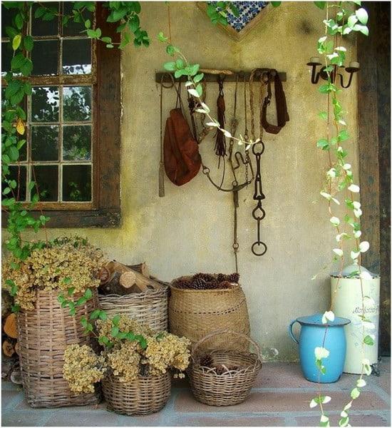 rustic garden baskets