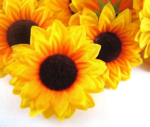 yellow living room rugs white and grey curtains (100) silk sunflowers sun flower heads , gerber ...