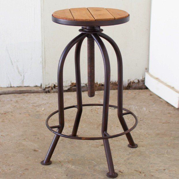 adjustable-bar-stool-with-recycled-wood