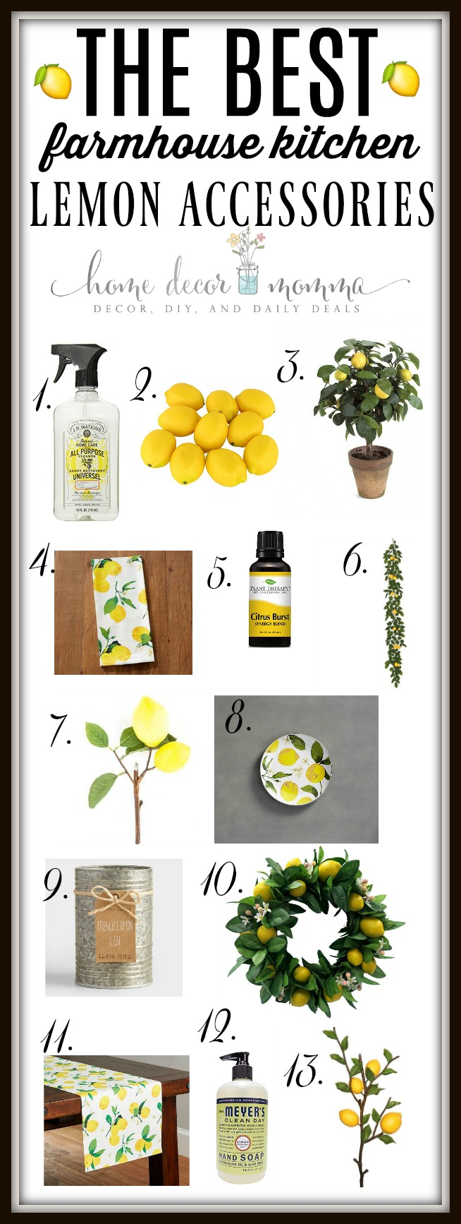 ... Lemon Accessories That I Use In My Kitchen For Decorating And Cleaning!  A Few Of These Are Still On My Wish List But On Sale Now So I Had To Share!!