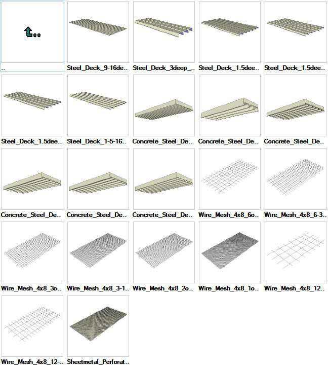 Sketchup Steel Deck 3D models download