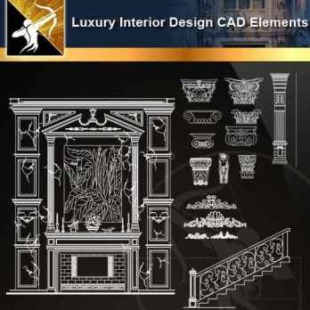 ★【Luxury Interior Design CAD Elements】@Autocad Decoration Blocks,Drawings,CAD Details,Elevation