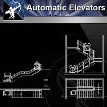 【Architecture CAD Details Collections】Automatic Elevator CAD Details