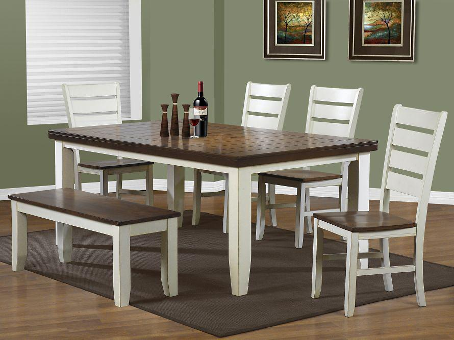 kitchen table with bench and chairs white cabinets dining room furniture the home depot canada sets