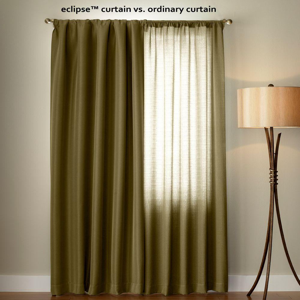 Eclipse Suede Blackout Black Curtain Panel 95 In Length
