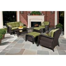 6 Piece Outdoor Wicker Patio Set