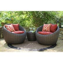 Ae Outdoor Corona 3-piece -weather Wicker Patio Deep