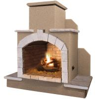 Cal Flame 78 in. Propane Gas Outdoor Fireplace