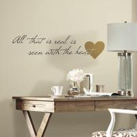 5 in. x 11.5 in. Heart Quote 10-Piece Peel and Stick Wall ...