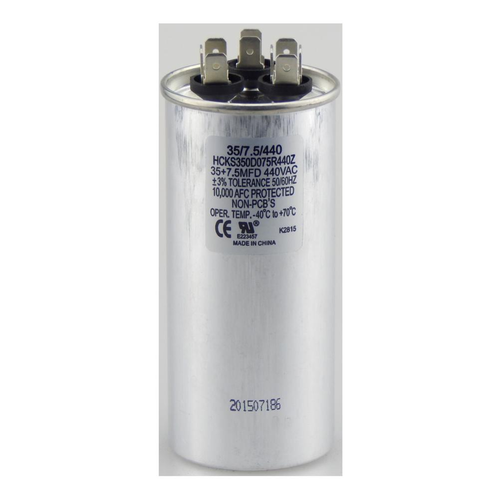 hight resolution of run round capacitor tpr3575440 tradepro dual rated run capacitors are