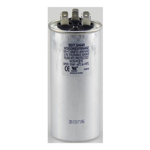 small resolution of run round capacitor tpr3575440 tradepro dual rated run capacitors are