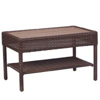 Hampton Bay Belcourt Metal Rectangle Outdoor Coffee Table ...