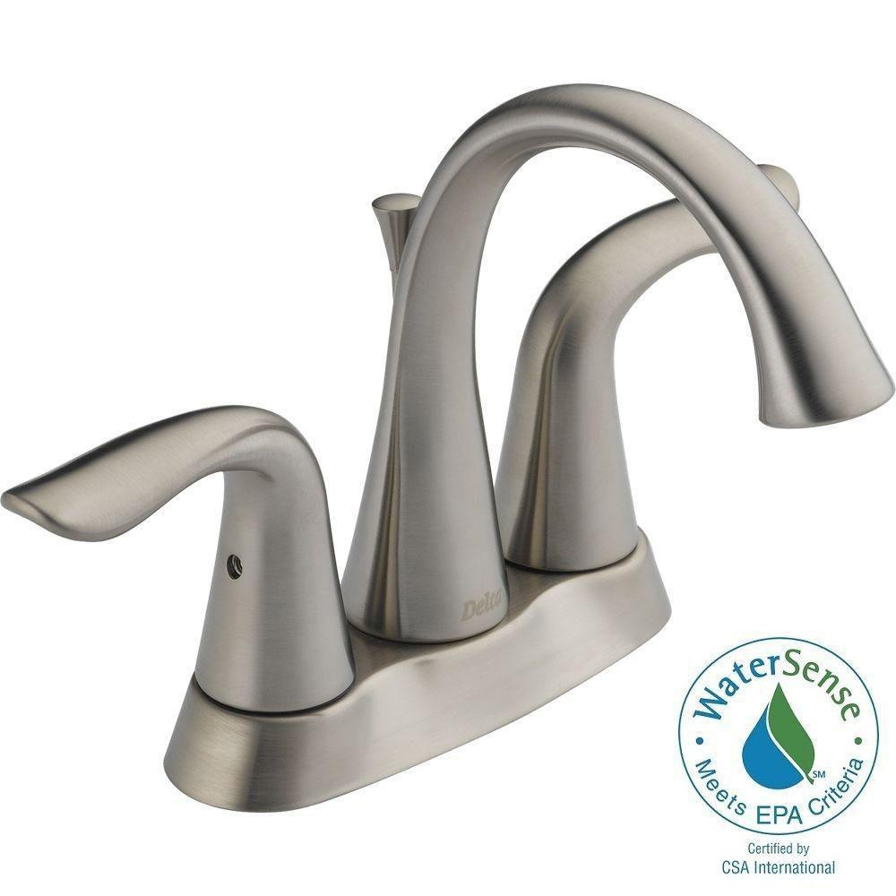 Delta Lahara 4 in Centerset 2Handle High Arc Bathroom Faucet in Stainless25938LFSS  The
