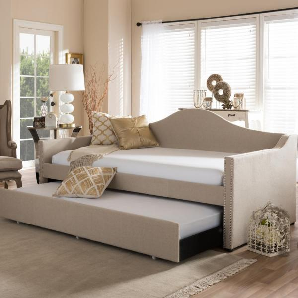 Dorel Asia Kayden White Twin Daybed-fa6394w - Home Depot
